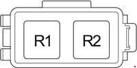 Схема блока реле №2 Тойота Прадо 120