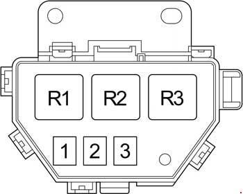 Схема блока реле №3
